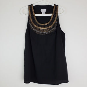 Soft Surroundings Sequined Tank Top Size PL